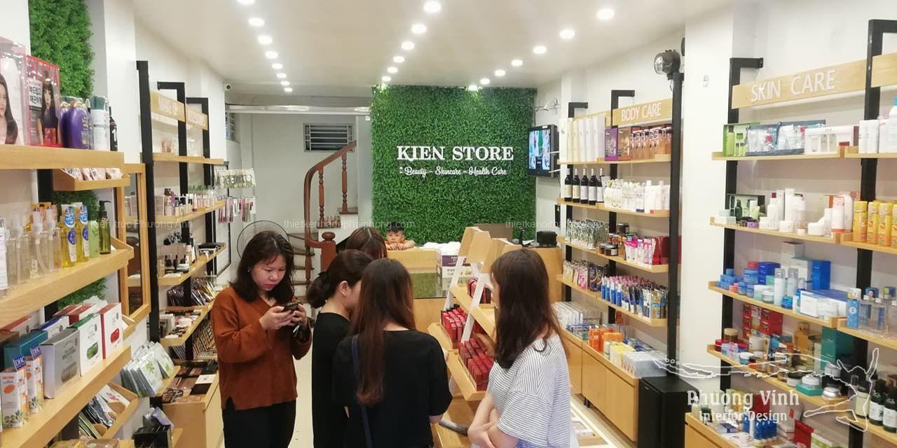 Khách hàng yêu thích thiết kế shop mỹ phẩm Kiên Store
