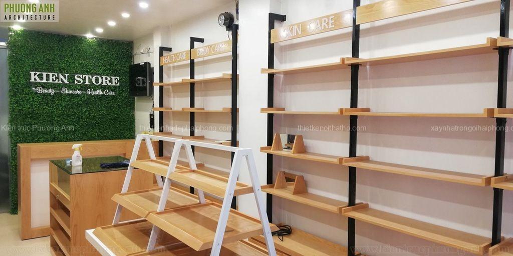 Thi công Hoàn thiện nội thất shop mỹ phẩm Kiên