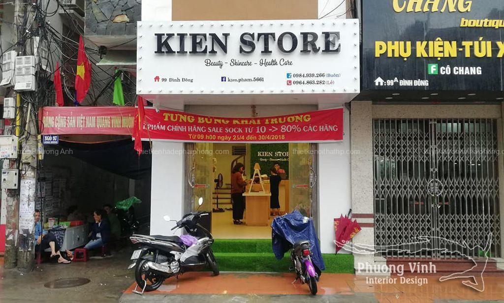 Khai trương dự án thiết kế và thi công nội thất shop mỹ phẩm Kiên Store