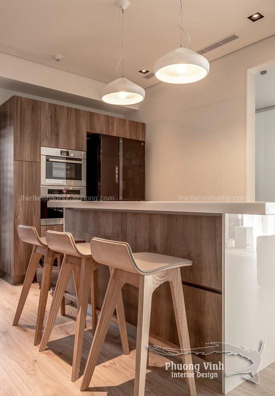 Thiết kế nội thất phòng ăn và bếp đẹp xinh