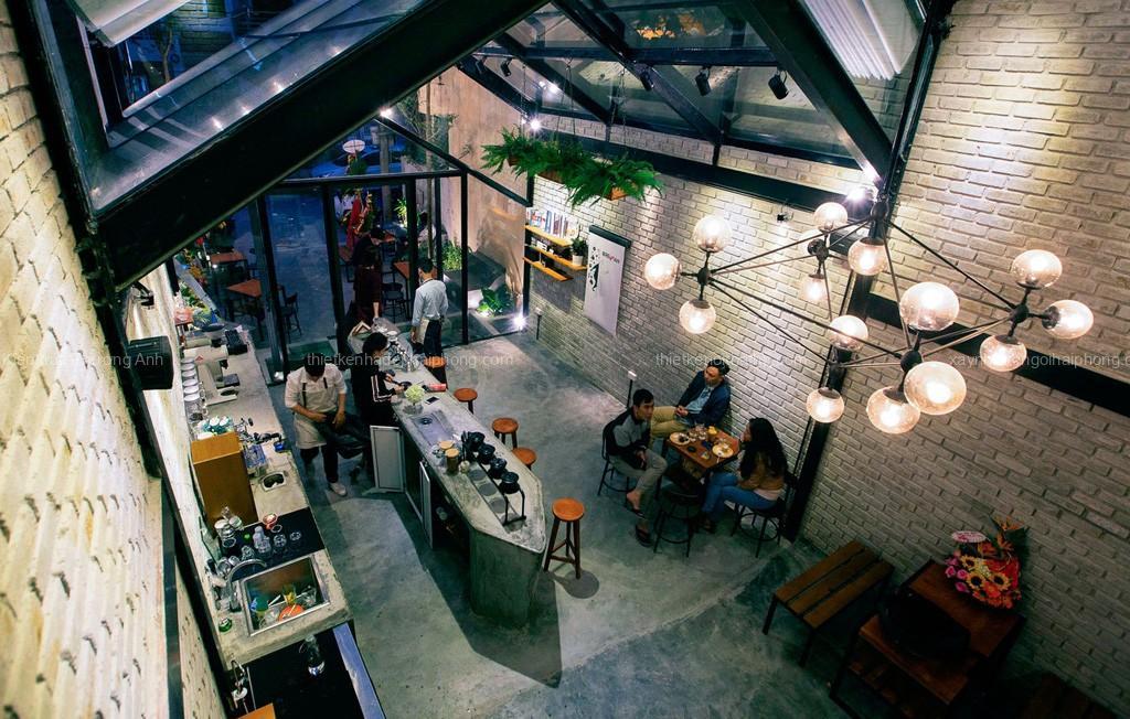 Chiêm ngưỡng Thiết kế thi công nội thất quán cafe đẹp độc đáo