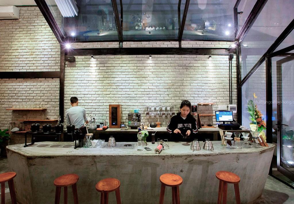 Thiết kế thi công nội thất quầy bar coffee